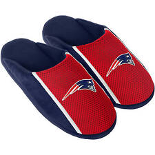 New England Patriots NFL Men's Navy Blue/Red Jersey Slippers/Sandals/Shoes: L-XL
