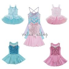 Girl's Lace Dancewear Ballet Dance Tutu Leotard Skate Skirt Party Dress Costume