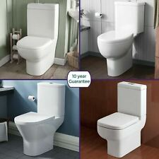 Toilet Bathroom Cloakroom Soft Close Seat White Ceramic WC Close Coupled Pan