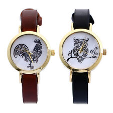Fashion Women Cartoon Watch Cute Animal Flower Thin Leather Band Wristwatch New