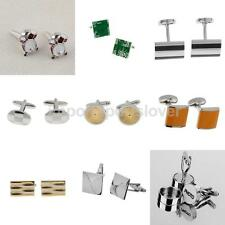 Silver Mens Wedding Party Cufflinks Cuff Links Groom Bride Brother Usher Gifts