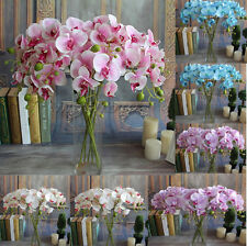 Artificial Fake Silk Flower Phalaenopsis Butterfly Orchid Home Wedding Decor New