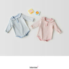 Hot Rompers Clothes Long Sleeve Striped Print  Cotton Triangle Jumpsuit For Baby