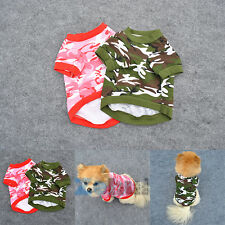 New Pet Dog Camo T Shirt Clothing Apparel Puppy Doggy Camouflage Coat Tops XS-L