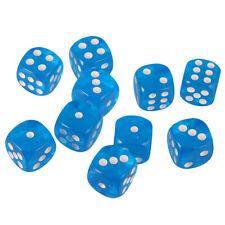 Pack/10pcs Six Sided D6 Dice Playing D&D Warhammer RPG Board Game Favours 16mm