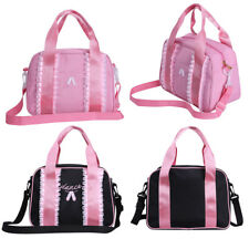 Girls Ballet Ruffles Sling Hand Bag Dance Shoulder Tote Zippered Embroideed Bag