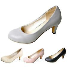Cute Mid heel Bridal Classic high heel Casual Shoes Size 4 5 6 7 8 9 10 11 12 13