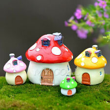 Resin Mushroom House Miniature Figurine Garden Fairy Ornament Dollhouse Craft