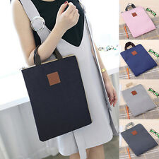 1x Laptop Notebook A4 Tote Hand Bag Canvas Zipper Document Holder File Briefcase