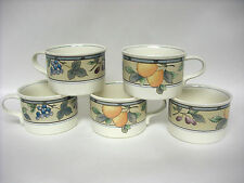 Set of 5 MIKASA Garden Harvest Coffee Cups CAC29 VGC used