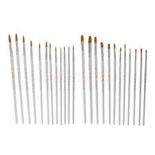 12Pcs Nylon Hair Flat Tip Painting Brushes Set Artist Watercolor Drawing Pens
