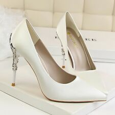 Elegant Sexy High Heel Pointed Toe Stiletto Solid Pump Chic Work OL Women Shoes