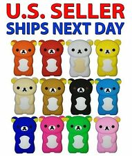 NEW - Apple iPod NANO 7th Gen Soft Silicone Case Cover skin - CUTE Teddy Bear