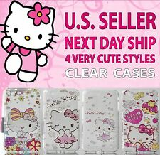NEW - Apple iPhone 7 Plus Very CUTE HELLO KITTY Soft CLEAR Case Cover skin