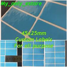 Large 45x25mm BLUE Custom Made Stickers/Labels, Address Return Waterproof