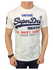 Mens Superdry Shirt Shop T-Shirt in Optic White Large