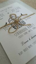 Shabby Chic Personalised Birdcage Wedding Invitations