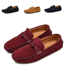 2017 Men Slip On Moccasins Suede Loafers Driving Casual Shoes Flat Loafers