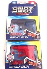 TOYS POTATO/SPUD Die Cast  Plastic Toy Gun Potato Shooter-RED OR BLUE
