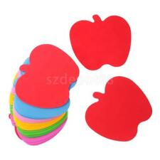 24Pcs Multi Color Foam Apple/Heart Shapes Stickers For Craft Art Project New