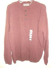 David Taylor Men's cotton acrylic solid brown color Sweater Size XL New