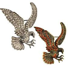 Vintage Crystal Bird Eagle Design Brooch Pin Clothing Jewelry Party Accessories
