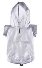Doggy Dolly✨Small Dog Puppy Raincoat Waterproof Outdoor Jacket Coat Silver