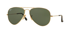 Ray-Ban RB3025 002/58 BLACK Men's AVIATOR LARGE METAL POLARIZED (Authentic)
