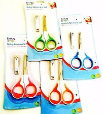 NEW FIRST STEPS BABY MANICURE SET WITH SCISSORS & NAIL CLIPPERS 0+ MONTHS