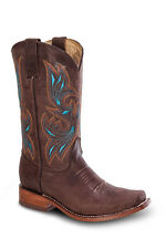 Womens Brown Cowgirl Western Leather Rodeo Boots REDHAWK 5706 Size 5-10 (B, M)
