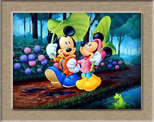 Oil Painting HD Canvas Print/Home Decoration Mural Disney Mickey Mouse