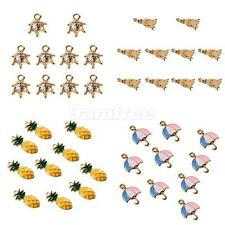 10Pcs Cute Mixed Charm Pendants for Necklace Bracelet DIY Jewelry Making Craft