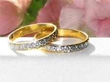 MENS OR WOMENS 2TONE 18KT GOLD PLATED WEDDING RING WEDDING BAND 3MM YGB70