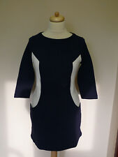 Boden Ottoman shift ponte tunic dress in ivory & navy or plain navy RRP £79