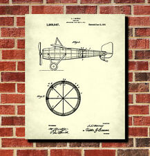 Vintage Airplane Patent Print Flying Poster Pilot Flying Gift Aviation Blueprint
