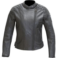 Merlin Motorbike Motorcycle Cruiser Womens Ladies Hadley Leather Jacket - Black