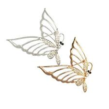 Glitter Fancy Crystal Butterfly Alloy Charms Brooches Pins Jewelry Decorations