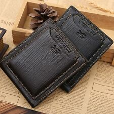 Purse Mens Billfold ID Credit Card Holder Money Clip Genuine Leather Wallet