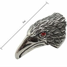 Retro Rock Eagle Head Shape Stainless Steel Ring Steampunk Jewelry Unique Band
