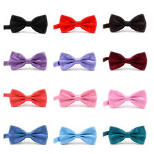 IvyFlair 3-Pack Pre Tied Adjustable Satin Formal Tuxedo Solid Bowties Bow Tie