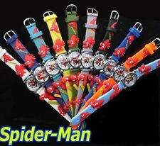 Kids Boys/Girls Spiderman Quartz Watch with 3D silicone strap CHOOSE YOUR COLOUR