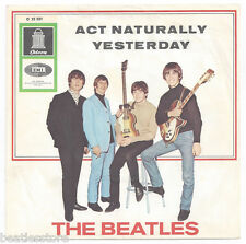"""Beatles 7"""" record 'Act Naturally / Yesterday' 1965 rare very first pressing"""