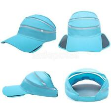 Women's Wide Brim Sun Visor Quick-Drying Beach Sun Hat Sports Tennis Cap