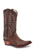 New Womens Brown Cowgirl Western Leather Boots REDHAWK 36014 Size 5-10 (B, M)
