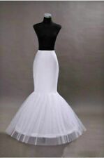 Black White1 Hoop Fishtail Mermaid Skirt Wedding Dress Crinoline Petticoat Slips