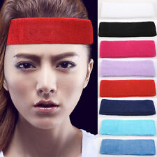 Best Men Women Cotton Sport Sweat Sweatband Headband Yoga Gym Stretch Head Band