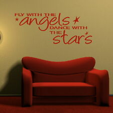 Fly With The Angels - Inspirational Wall Quote / Large Motivational Quote niq12
