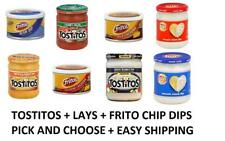 Tostitos Lays Fritos Chip Dips Pick One Mix and Match 9 - 15 oz Free World Ship