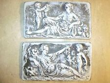 The Reclining Venus And Cupid Antique White Roman Cast Stone Tile Wall Plaque