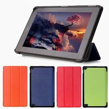 Folding Folio Leather Stand Cover Case For Amazon Kindle 7 2015 Tablet Fire HD